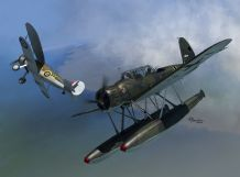 Sword 1/72 Model Kit 72120 Arado Ar-196A-2 floatplane versus Gloster Sea Gladiator over Norway